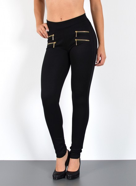 Damen Treggings mit Zipper