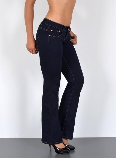 ESRA Damen Bootcut Jeans bis Übergröße
