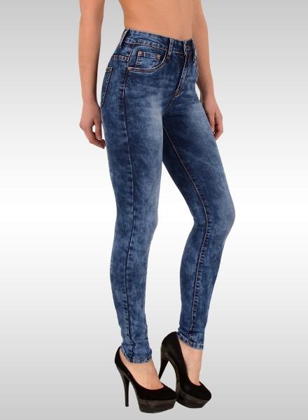 ESRA Damen High Waist Skinny Jeans große Größen