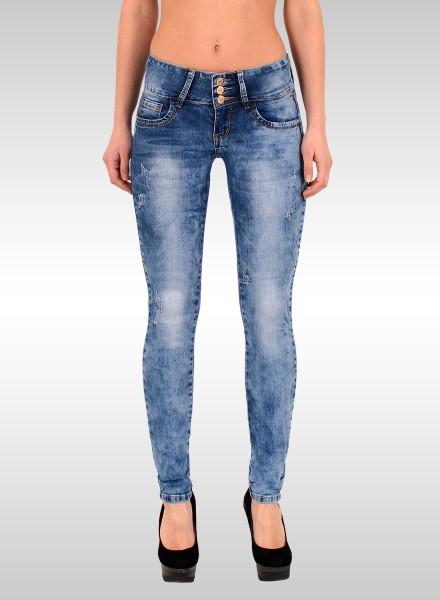 Damen High Waist Skinny Jeans