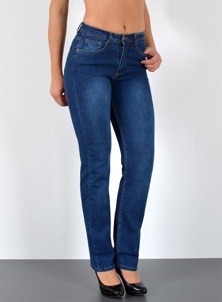 ESRA Damen Jeans gerades Bein große Größen