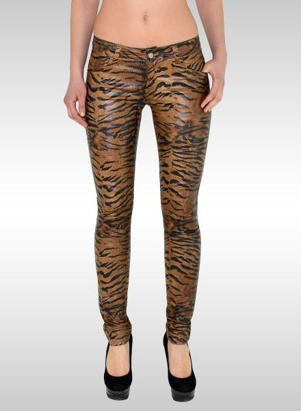 Lederoptik Tiger Damen Hose