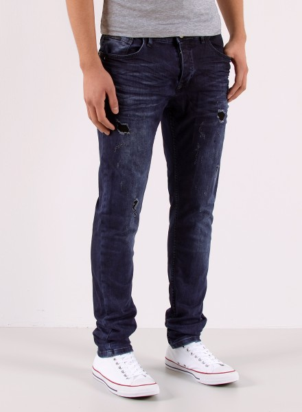 Herren Slim Fit Jeans Destroyed Look