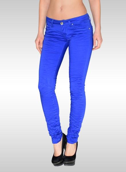 Damen Basic Jeans in grün und blau